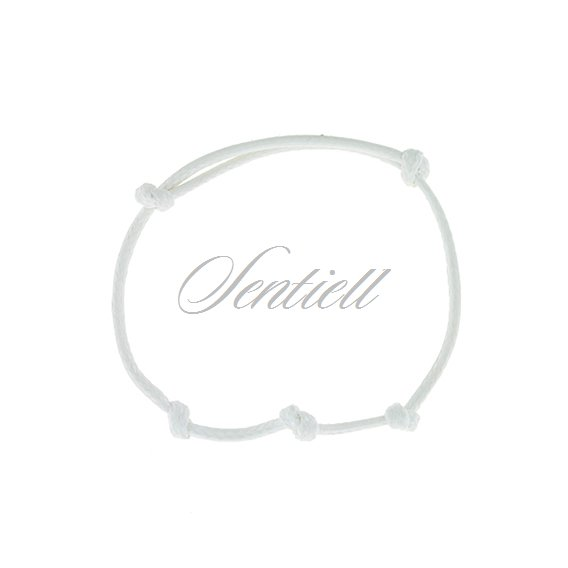 Base bracelet for flat charms - white polished