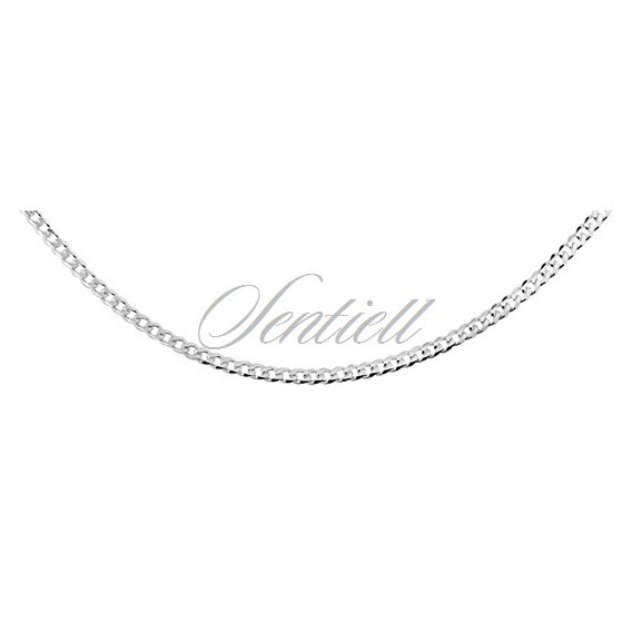 Silver (925) diamond-cut chain - curb Ø 058